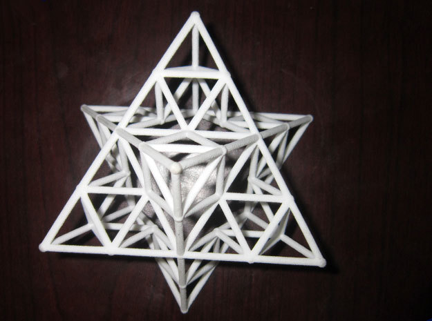 Rod Merkaba Lattice OpenBase - 6cm in White Natural Versatile Plastic