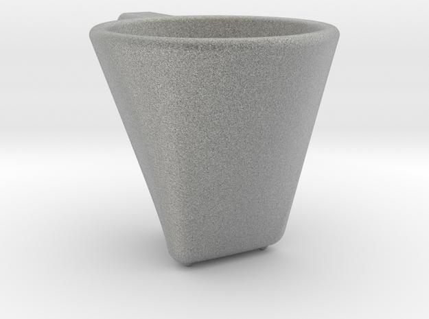 'Dark coffee' cup in Metallic Plastic