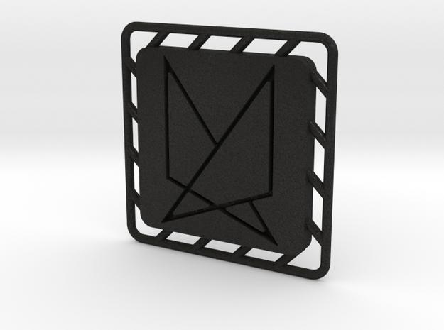 Ephela Pendant in Black Acrylic