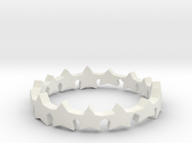 The Stars Shine Brighter Ring | Size 9 in White Natural Versatile Plastic