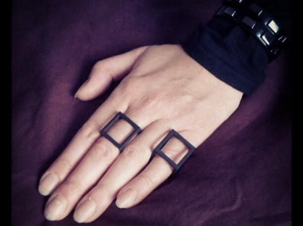 cube ring size 7us - 56mm 3d printed