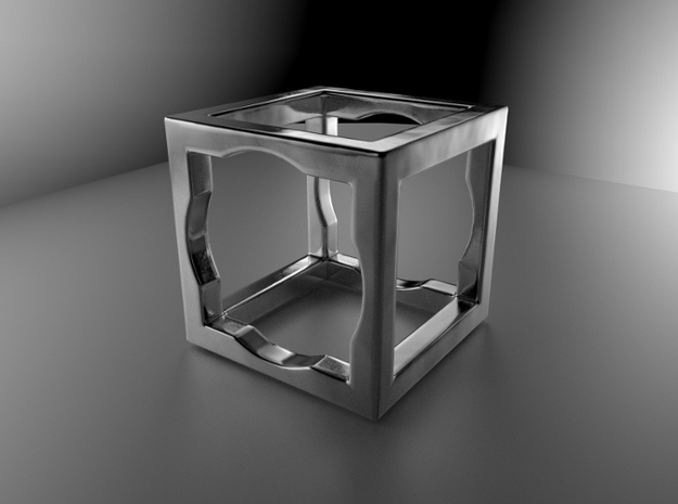 cube ring, size us 4 , 45 mm 3d printed