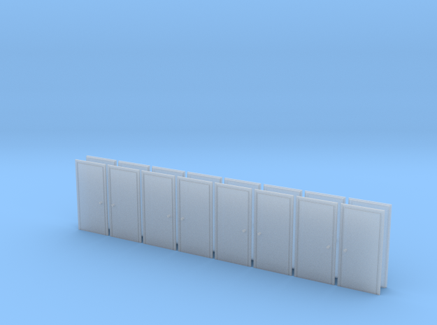 Metal Door in HO Scale - set of 16 in Frosted Ultra Detail