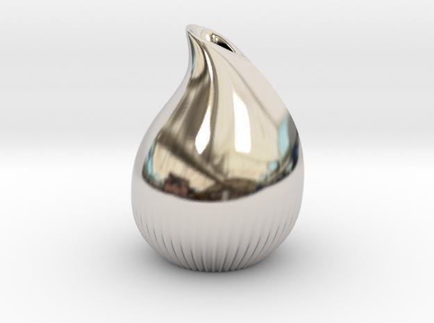 Drop vase in Platinum