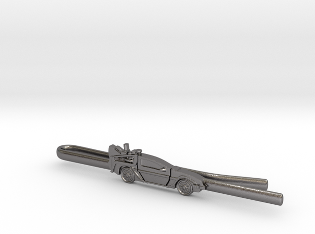 Back to the future's Delorean Tie Clip 3d printed