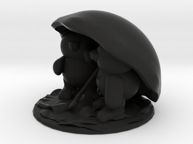 Bears under umbrella 3d printed