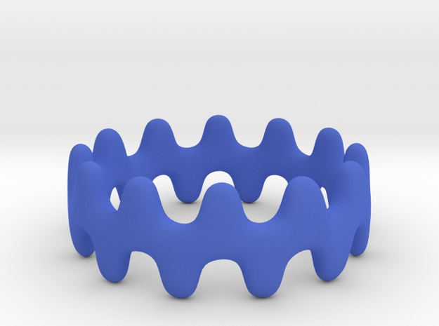 Artistic Wave Ring 3d printed