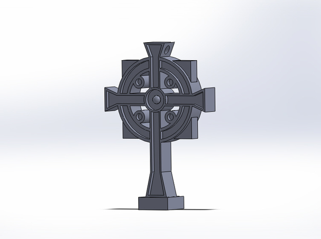 Secret Stamp Cross in Polished Bronzed Silver Steel
