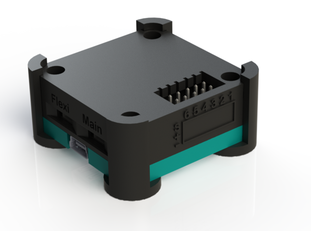 OpenPilot CopterControl Case lower v1 in Black Natural Versatile Plastic