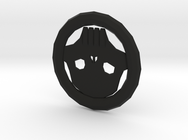 Skull Token in Black Natural Versatile Plastic