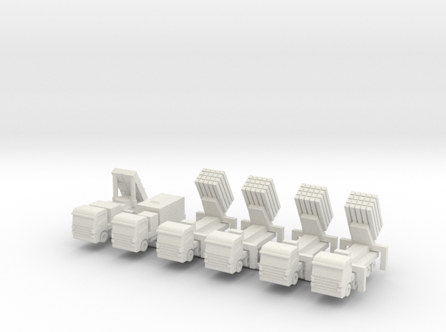 1/285 Iron Dome (x6) in White Natural Versatile Plastic