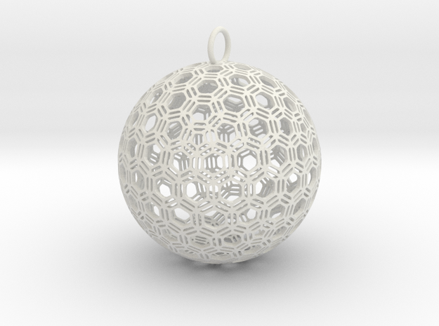 Bucky Bauble 1 in White Natural Versatile Plastic