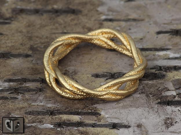 Ring - Wirl in Matte Gold Steel