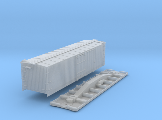 N-Scale D&SL 52000 Series Boxcar Kit in Smooth Fine Detail Plastic