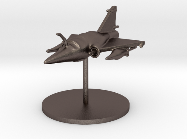 Mirage 2000 plane in Polished Bronzed Silver Steel