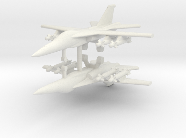 1/285 F-111E Aardvark (x2) in White Natural Versatile Plastic