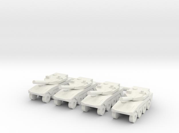 1/285 Maneuver Combat Vehicle (x4) in White Natural Versatile Plastic