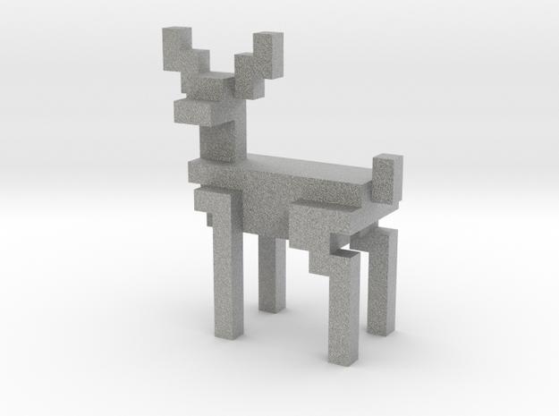 Big 8bit reindeer with sharp corners in Metallic Plastic