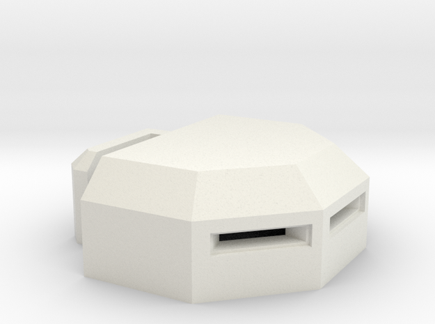 MG Pillbox 3 in White Natural Versatile Plastic