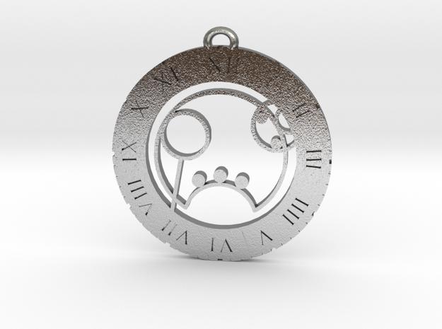 Ryan - Pendant in Natural Silver