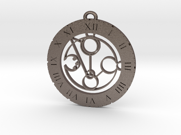 Mohammad - Pendant in Polished Bronzed Silver Steel