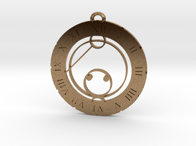 Kai - Pendant in Raw Brass