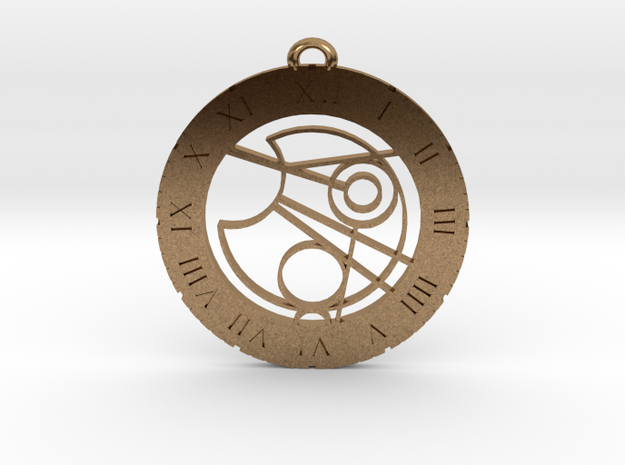 James - Pendant in Natural Brass