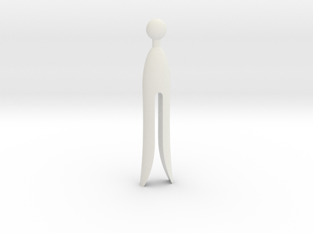 Old Clothespin in White Natural Versatile Plastic