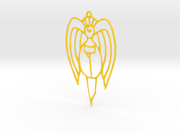 Christmas ornament: Angel in Yellow Processed Versatile Plastic
