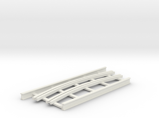 R-165-curve-250-bridge-track-long-plus-1a in White Natural Versatile Plastic