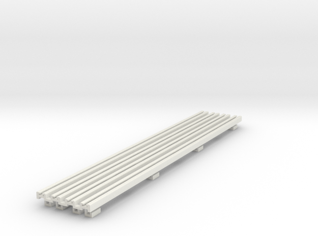 R-165-girder-bridge-rails-100-1a-x4 in White Natural Versatile Plastic