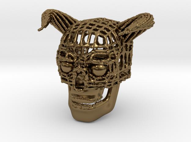 Skull of Devil in Polished Bronze
