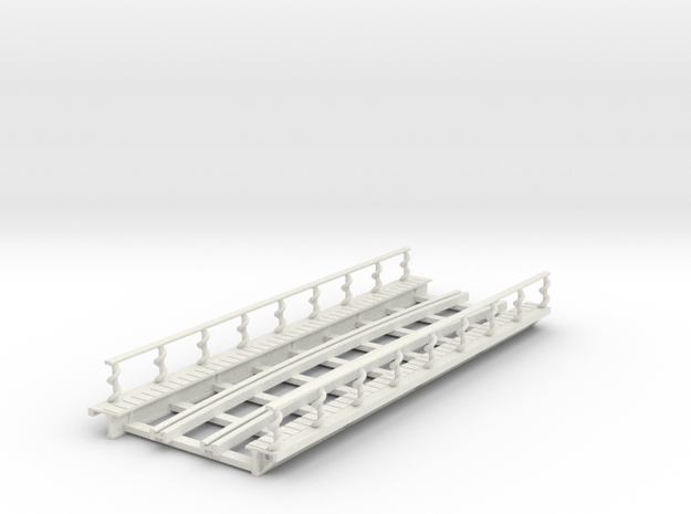R-165-curve-Y-bridge-track-long-plus-walkway-sp-2a in White Natural Versatile Plastic