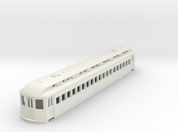 O Scale L&WV Long Steel Coach body shell in White Natural Versatile Plastic