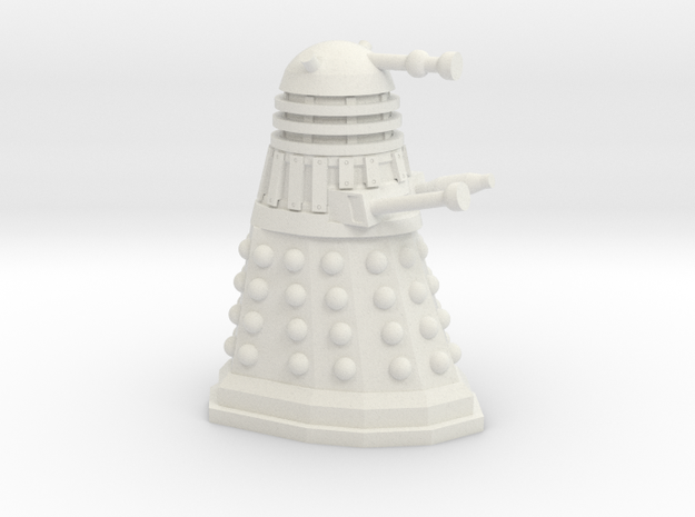Dalek Mini 30mm Scale in White Natural Versatile Plastic