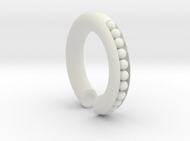 Peapod 00g Hoop Earring (One Earring) in White Strong & Flexible