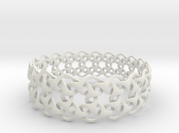 Bracelet V Large  in White Natural Versatile Plastic