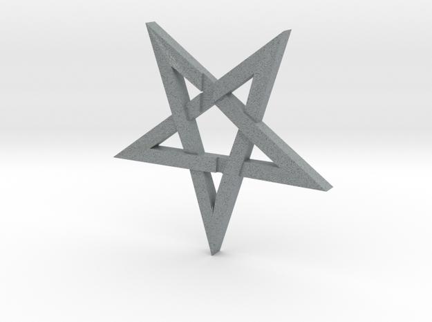 LaVey's Sigil Star Ornament (Part 1 of 2) in Polished Metallic Plastic