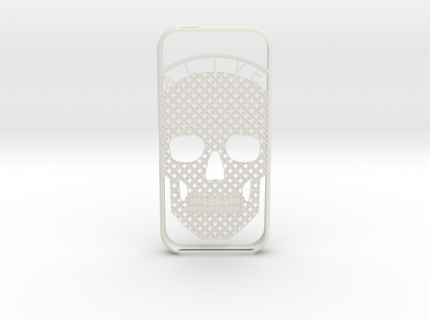 AliveSkull iPhone5 Case in White Strong & Flexible