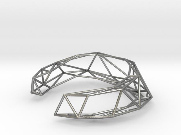 Thin Lena Bracelet - Small (Precious Metal) 3d printed