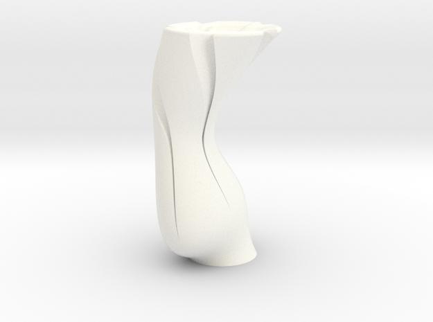 TornadoVase in White Processed Versatile Plastic