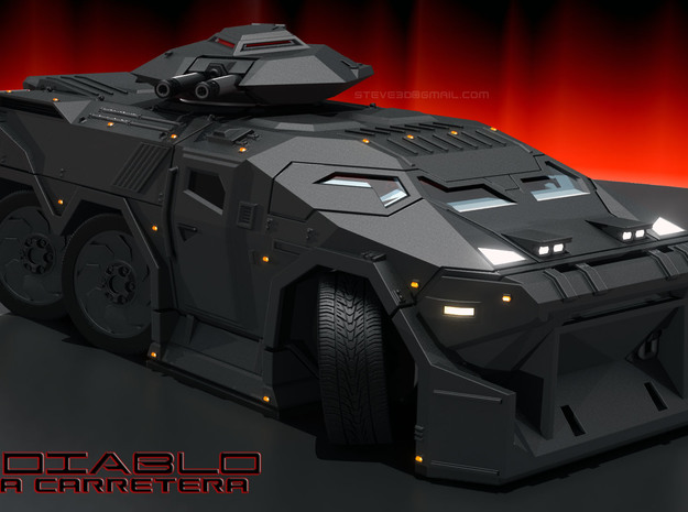 Diablo APC - 6mm scale with aero mods. 3d printed