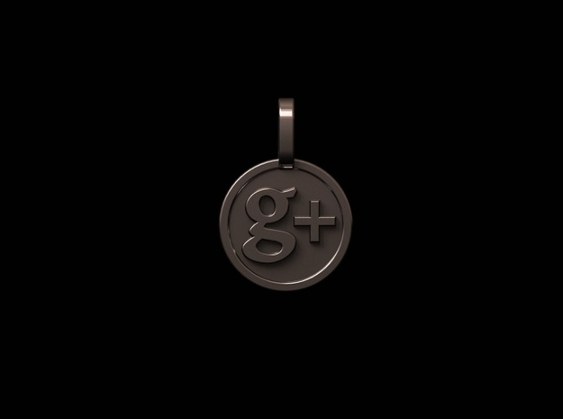 G+ pendant in Polished Silver