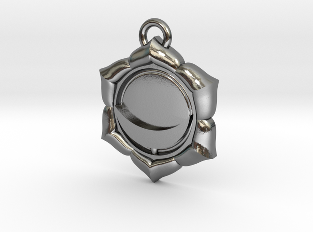 Sacral Chakra in Polished Silver