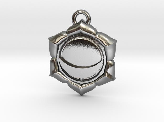 Manipura (Solar Plexus Chakra) Pendant in Polished Silver