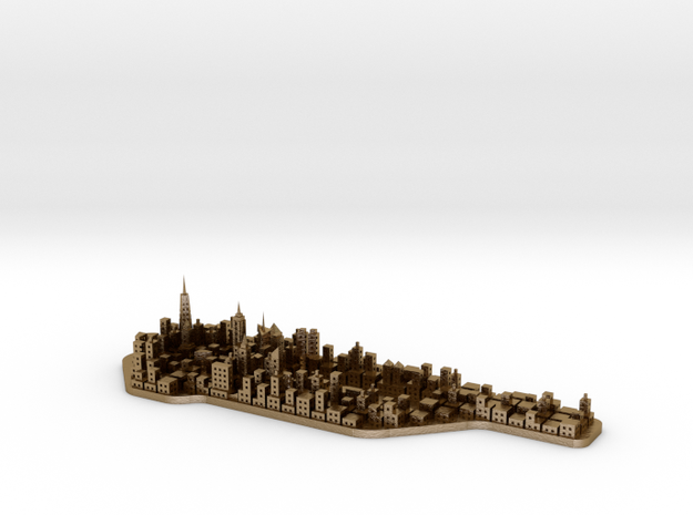 Mini-Manhattan Model 3d printed