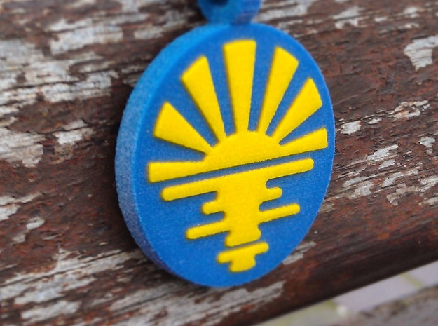 'Sunrise' Jewelry Pendant in Sandstone in Full Color Sandstone