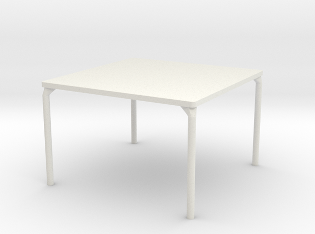 HTLA Square Table: 10% in White Strong & Flexible