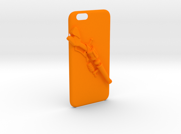LoL Iphone 6 Case (i can change anything) in Orange Strong & Flexible Polished