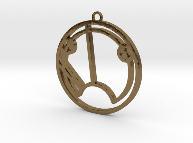 Sue - Necklace in Polished Bronze
